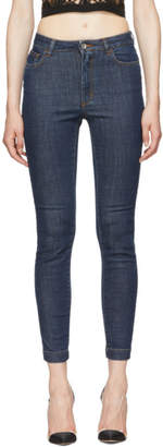Dolce & Gabbana Blue Queen Skinny Jeans