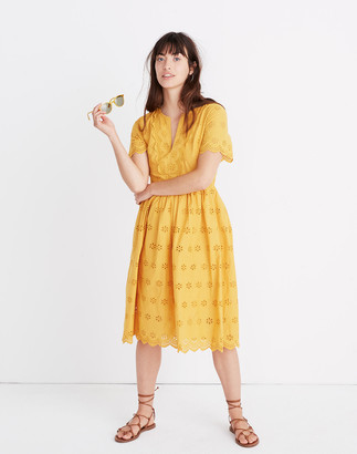 Madewell Scalloped Eyelet Midi Dress