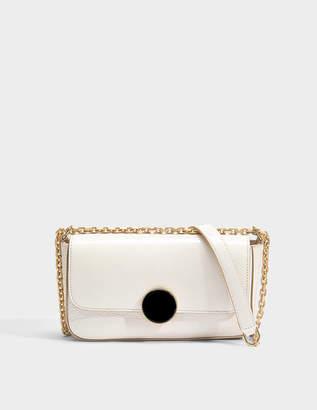 Vanessa Bruno Small Moon Shoulder Bag in Ivory Cowhide