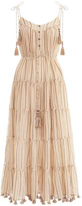 Zimmermann Suraya Bronze Stripe Tie Dress