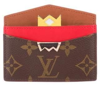 Louis Vuitton 2015 Monogram Tribal Mask Card Holder