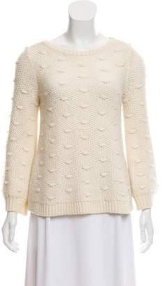 Rebecca Taylor Wool Popcorn Knit Sweater