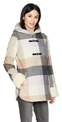 Pendleton Women's Hooded Zip Front Toggle Wool Coat