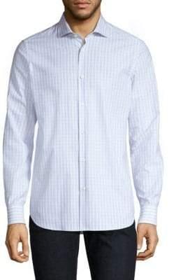 Pal Zileri Cotton Striped Button-Down Shirt
