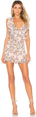 For Love & Lemons Bee Balm Floral Romper in Pink $224 thestylecure.com