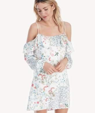 Sole Society Dallas Cold Shoulder Ruffle Dress