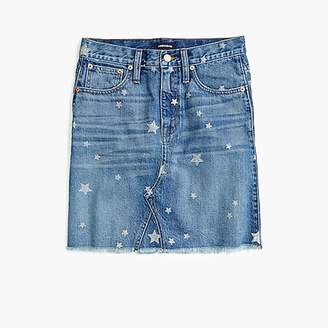 J.Crew Denim mini skirt in star print