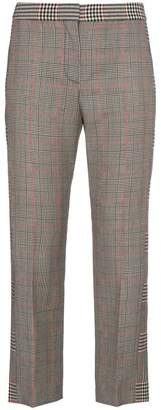 Alexander McQueen mid rise checked cropped trousers
