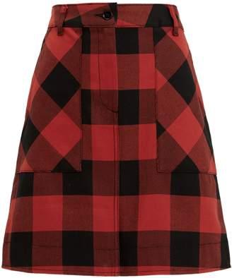 Tomas Maier Buffalo Check Mini Skirt