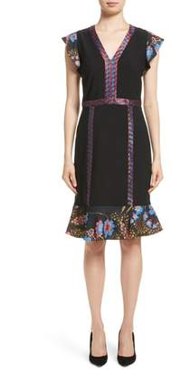 Etro Flutter Sleeve Sheath Dress