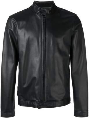 Ermenegildo Zegna zipped biker jacket