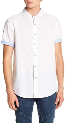 Report Collection Solid Short Sleeve Slim Fit Shirt