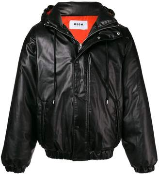 MSGM drawstring hood down jacket