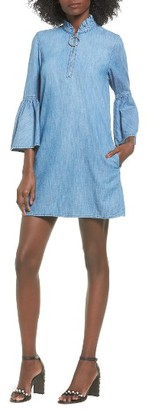 Women's Blanknyc Good Behavior Chambray Bell Sleeve Dress $88 thestylecure.com