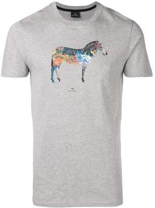 Paul Smith 'Graffiti Zebra' print T-shirt