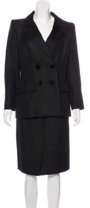 Saint Laurent Vintage Silk Skirt Suit