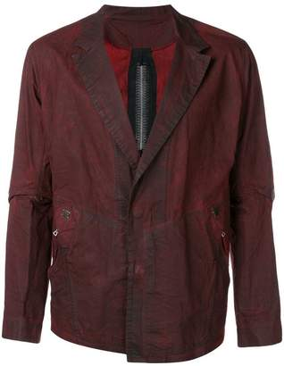 Isaac Sellam Experience blazer jacket with stapled back details