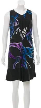 Proenza Schouler Printed Silk Dress Black Printed Silk Dress