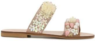 Elina Linardaki floral-appliquéd sandals
