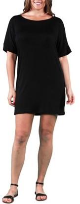 24/7 Comfort Apparel Women's Plus Size T-shirt Dress