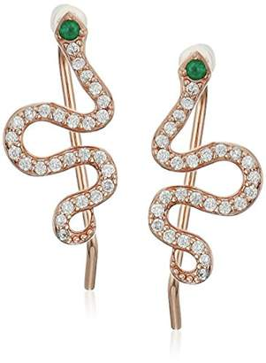 Shashi Pave Snake Climber Earrings