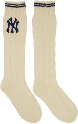 Gucci White NY Yankees Edition Monoce Socks
