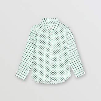 Burberry Polka Dot Cotton Oxford Shirt