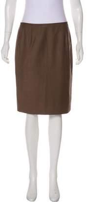 Calvin Klein Plaid Knee-Length Skirt