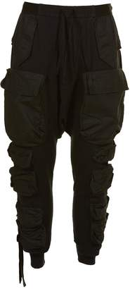 Unravel Project Drop Crotch Cargo Trousers