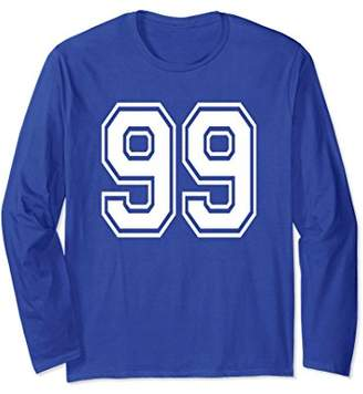 99 Number Sports Player School Team Long Sleeve Shirt