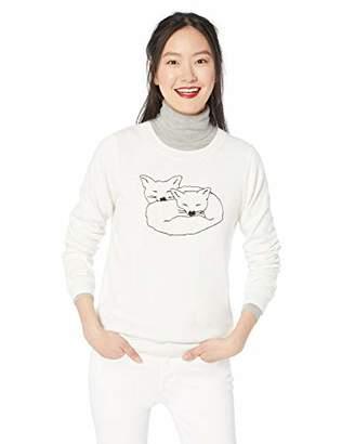 J.Crew Mercantile Women's Crewneck Fox Sweater