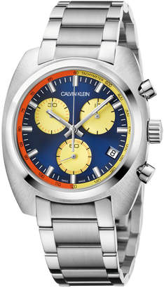 Calvin Klein Men Swiss Chronograph Achieve Stainless Steel Bracelet Watch 40mm x 49.75mm