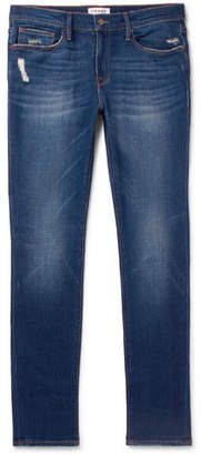 Frame L'homme Skinny-Fit Distressed Stretch-Denim Jeans
