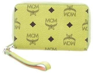 MCM Monogram Leather Zip Wallet