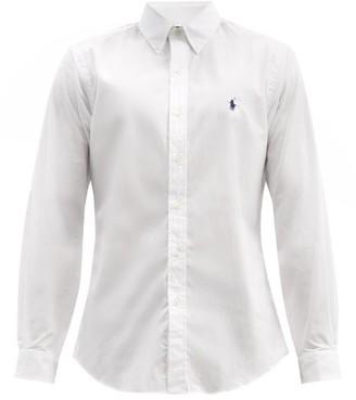 Polo Ralph Lauren Logo Embroidered Cotton Shirt - Mens - White