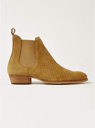 Topman Mens Brown Sand Suede South Chelsea Boots