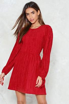 Nasty Gal Tie and Stop Me Velvet Dress