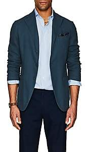 Eidos Men's Augusto Cotton-Linen Three-Button Sportcoat - Blue