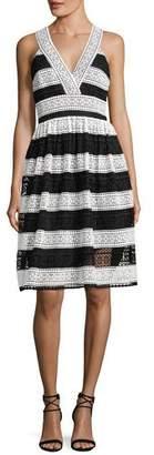 Kate Spade Colorblock Lace V-Neck Dress