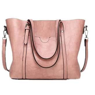 Chaidan Women Bag Oil Wax Women's Leather Handbags Luxury Lady Hand Bags With Purse Pocket Women