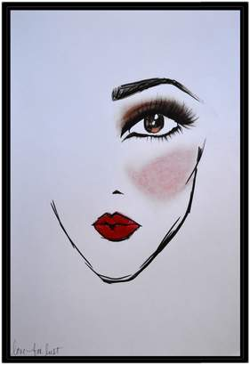 Maybelline Americanflat NY LoveforLust by Cara Francis (Framed Canvas)