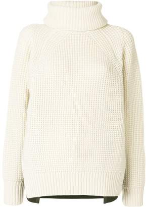 Sacai Two-tone sweater with removable collar