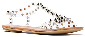 Jeffrey Campbell The Puffer Sandal in Clear Rainbow
