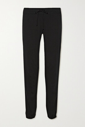 James Perse Genie Supima Cotton-terry Track Pants - Black