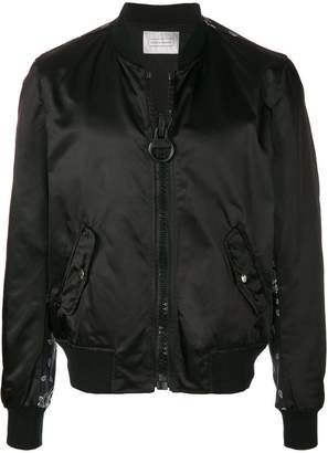 Route Des Garden paisley printed back bomber jacket