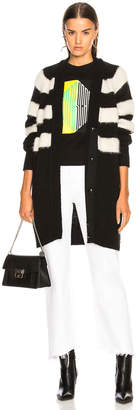Proenza Schouler Pswl Brushed Wool Long Cardigan