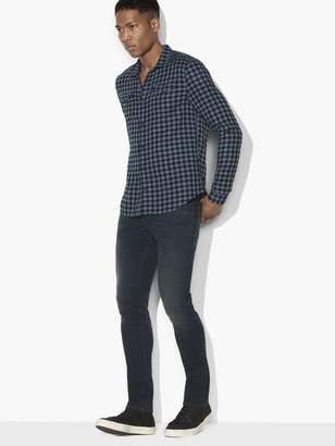 John Varvatos Double-Face Check Shirt