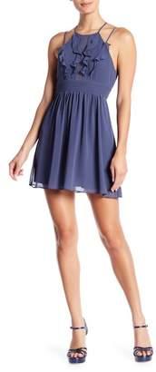 BCBGeneration Ruffle Front Pintuck Dress