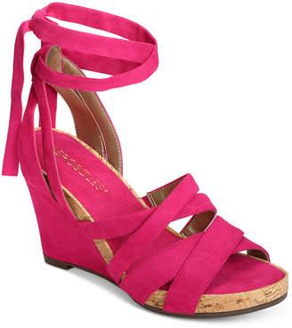 Aerosoles Lilac Plush Wedge Sandals Women's Shoes
