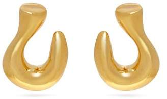 Sophia Kokosalaki Gold Plated Hook Earrings - Womens - Gold